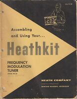 Heathkit FM-3A Assembly Manual Frequency Modulation Tuner original