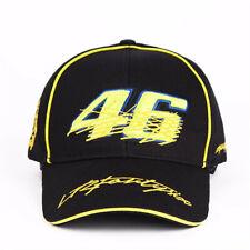 2019 Black Valentino Rossi VR46 Moto GP Baseball Cap Sport Hat 3D Embroidered