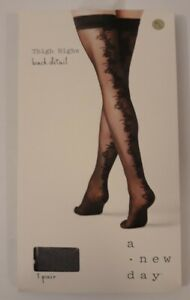 A New Day Thigh Highs W/ Back Detail Size M/L