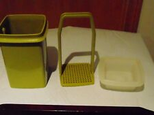 Vintage Tupperware Green Pickle/ Pepper/ Olive Container 1330-7