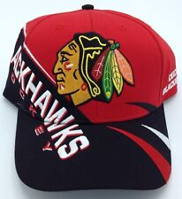 NHL Chicago Blackhawks Reebok Adult Adjustable Fit Structured Cap Hat Beanie NEW