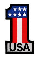 United States of America Number One #1 Embroidered Back Patch Iron Sew RPPM8453