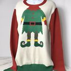 Ugly Christmas Sweater Elf Body Size Small Cotton Blend EUC