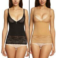 Triumph Lace Sensation Control Slimming Camisole Top Skin or Black 10-22 Womens