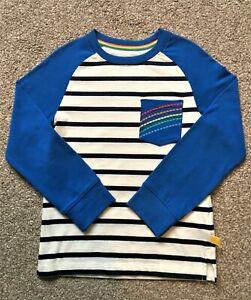 Brand New Mothercare Little Bird Blue Stripe Long Sleeve Top 4-5 years