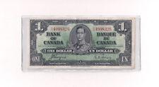 1937 Canada $1 One Dollar Bank Note Bill XF/AU Coyne Towers C19