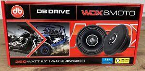 """DB Drive WDX6MOTO 6.5"""" 2Way 350 Watt Weather Resistant IP52 Coaxial Speakers NEW"""