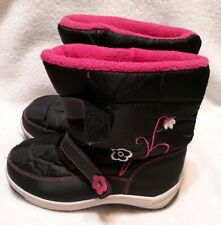 Via Pinky Collection Scarlet- Toddler Girls Snow Boots Navy Size 4