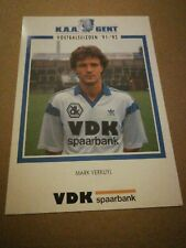 Carte Postale KAA Gent Mark Verkuyl