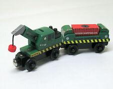 Thomas & Friends, Wooden Railway, Dock Cargo Crane & Cargo Car, 2003, VGUC