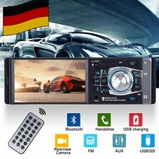 "Car MP5 Autoradio Stereo Player 4.1"" 1 Din HD TF USB AUX FM Bluetooth Remote DE"
