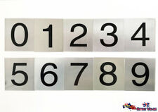 ANY 2 Number Sign Aloy Plaque For House Room Motel Hotel Locker Letter Box