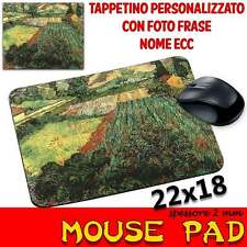 Tappetino Mouse Pad personalizzabile sp 2mm Collezione Van Gogh field with poppi