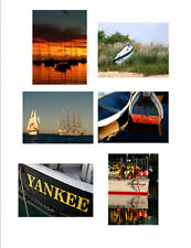Greeting Cards Boats Fine Art Photography 6 Cards Free U.S. Shipping
