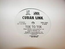 "Cuban Link Toe to Toe / 90 Miles & Swimming 12"" Single NM Terror Squad 2563 2000"