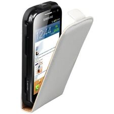 WHiTE LEATHER FLiP CASE COVER FOR SAMSUNG GALAXY ACE 2 II GT-i8160