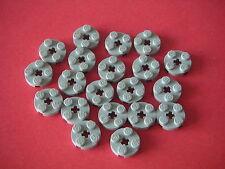 Lego - 20 plaques rondes 2x2 en gris clair neuves / REF 4032