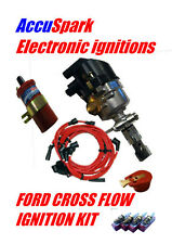 Ford X-Flow Fast Road Distributor + Performance pack 1 BLUE LEADS