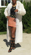 Mint Lord & Taylor full length Rose white Blush Mink & Fox Fur coat S-M 4-10