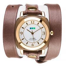 La Mer Brown Wrap Quartz Analog Women's Watch LMACETATE002