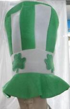 IRISH SHAMROCK HAT - St Patrick's Day Leprechaun green & white hat