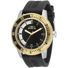 Invicta Men's Watch Specialty Quartz Black and Silver Dial Black Strap 34097
