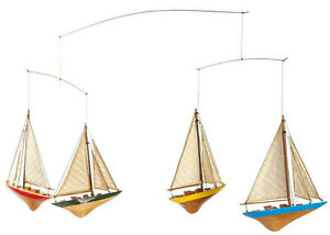 A-Cup Mobile America's Cup J Boat Sailboat Nautical Hanging Decor New
