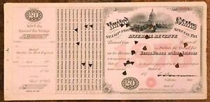 US SPECIAL TAX REVENUE STAMP - 1876 $20 RETAIL DEALER IN MALT LIQUORS - LOOK!