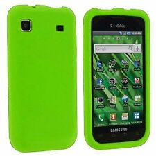 Silicone Skin Case for Samsung Galaxy S Vibrant T959 - Green