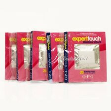 100 Wraps (5 X 20 Count Pack) OPI Expert Touch Removal Wrap Remover Gel Lacquer