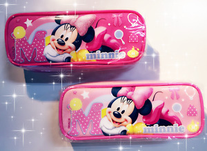 Disney MINNIE Mouse Authentic Licensed One Pencil Case Pouch (BRAND NEW)