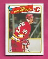 1988-89 OPC # 16 FLAMES JOE NIEUWENDYK EX-MT CARD  (INV# D5197)