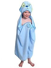 Blue Dog - One of a kind extra large toddler / child Animal Character Towel w...
