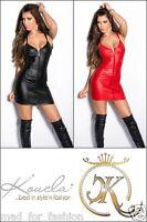SEXY WET LOOK LATEX LOOK GOGO MINI DRESS WITH FULL FRONT ZIP. UK 8/10 EU 36/38.