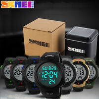 SKMEI 1068 Waterproof Men's Boy LED Silicone Digital Stopwatch Date Sport Watch
