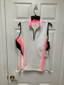 Tail New W/T Sleeveless Golf Shirt XL Multicolored 1/4 Zipper Trimming UPF 50