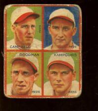1935 Goudey 4 in 1 Baseball Card Cincinnati Reds