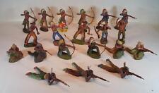 Elastolin Masse Figuren Wildwest Indianer Konvolut mit 20 Indianern #108
