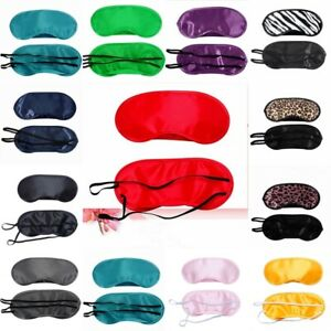 Schlafmaske SATIN Schlafbrille Augenmaske Eye Reise Maske Augenbinde Sleep Mask