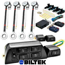 Electric 4 Power Roll Up Window Motor Conversion Kit + Remote Door Lock For Car