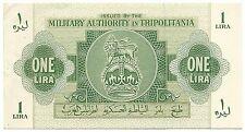 Tripolitania Libya Banknote Italy Military 1 Lira p M1 aUNC AU 1943 WW2 Rare Old