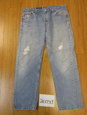 levi 501 USA destroyed feather grunge jean tag 42x34 Meas 37x30.5 20030F