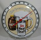 Old Piels Beer Bubble Glass Pam Style Thermometer Sign Piel Bros Brooklyn NY