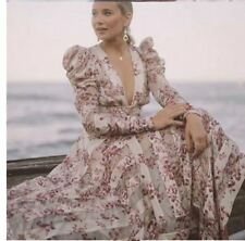 307bc61c9187d Zimmermann SAMPLE Unbridled Chiffon Floral Silk Blend Patchwork Maxi Dress  M 12