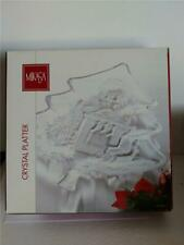 Mikasa Crystal Glass Holiday Christmas Tree Serving Tray New in Box