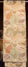 """antique JAPANESE KIMONO / VINTAGE FUKURO OBI /   148"""" long  x  12 1/2 double"""