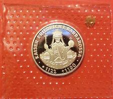 BRD 10 Deutsche Mark 1990 F Friedrich Barbarossa PP  15,5g  625er Silber