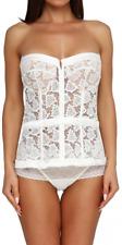 Corset La Perla Bustier Lingerie White (70B, 34) Overbust Lace Up For Women