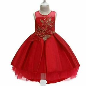 Tutu Princess Party Baby Girl Dress Bridesmaid Formal Wedding Kid Flower Dresses