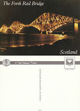 1980's FORTH RAIL BRIDGE SCOTLAND UNUSED COLOUR POSTCARD